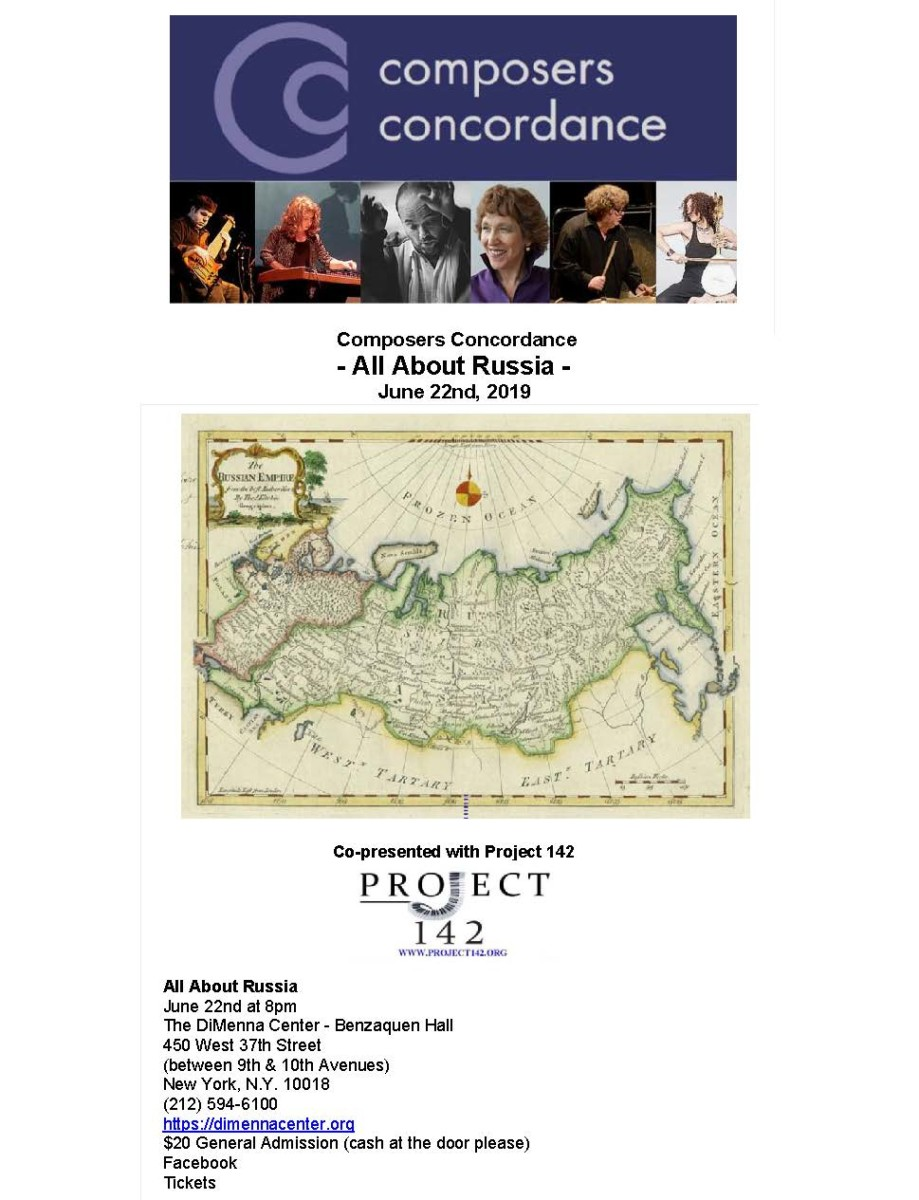PROJECT 142 & COMPOSERS CONCORDANCE JOINT PRODUCTION